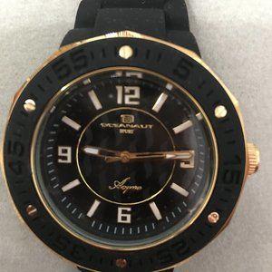 Oceanaut Black & Gold Silicone Watch - N…